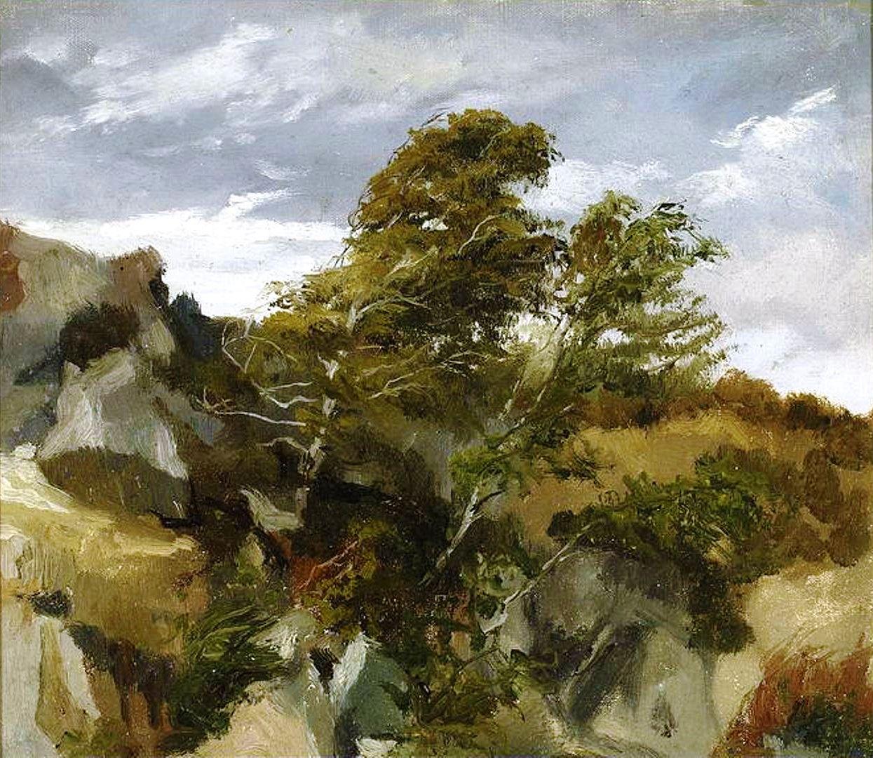 Генрік Родаковський. Пейзаж у Бортник на Дністрі, 1878