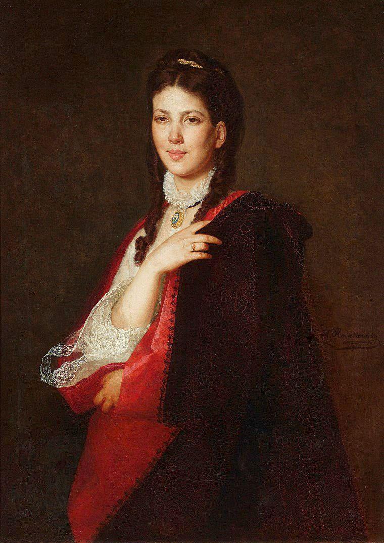 Генрік Родаковський. Портрет Leonii Singer, 1871