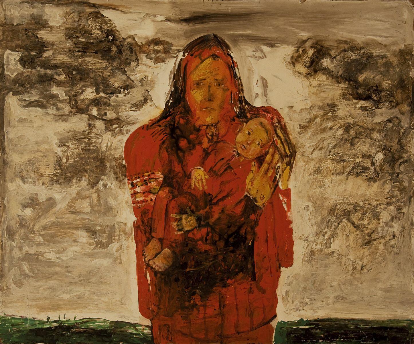 Михайло Безпальків. Чернобильська мадонна, 1988 о.к.100х120