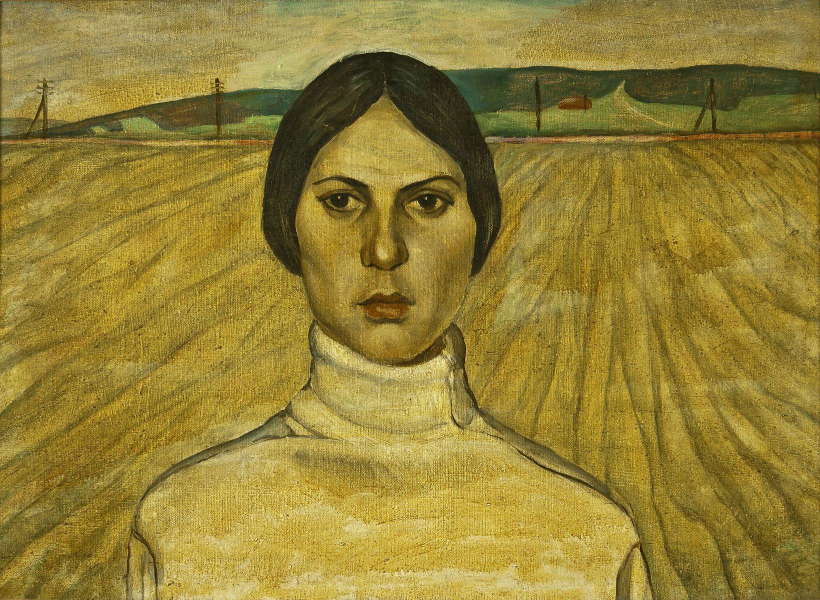 Михайло Безпальків. Портрет Анни, 1972. Олія, полотно; 48х70