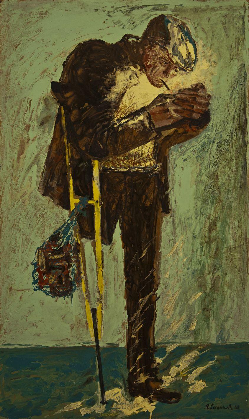 Михайло Безпальків. Той що прикурює, 1988 о.к.120х73
