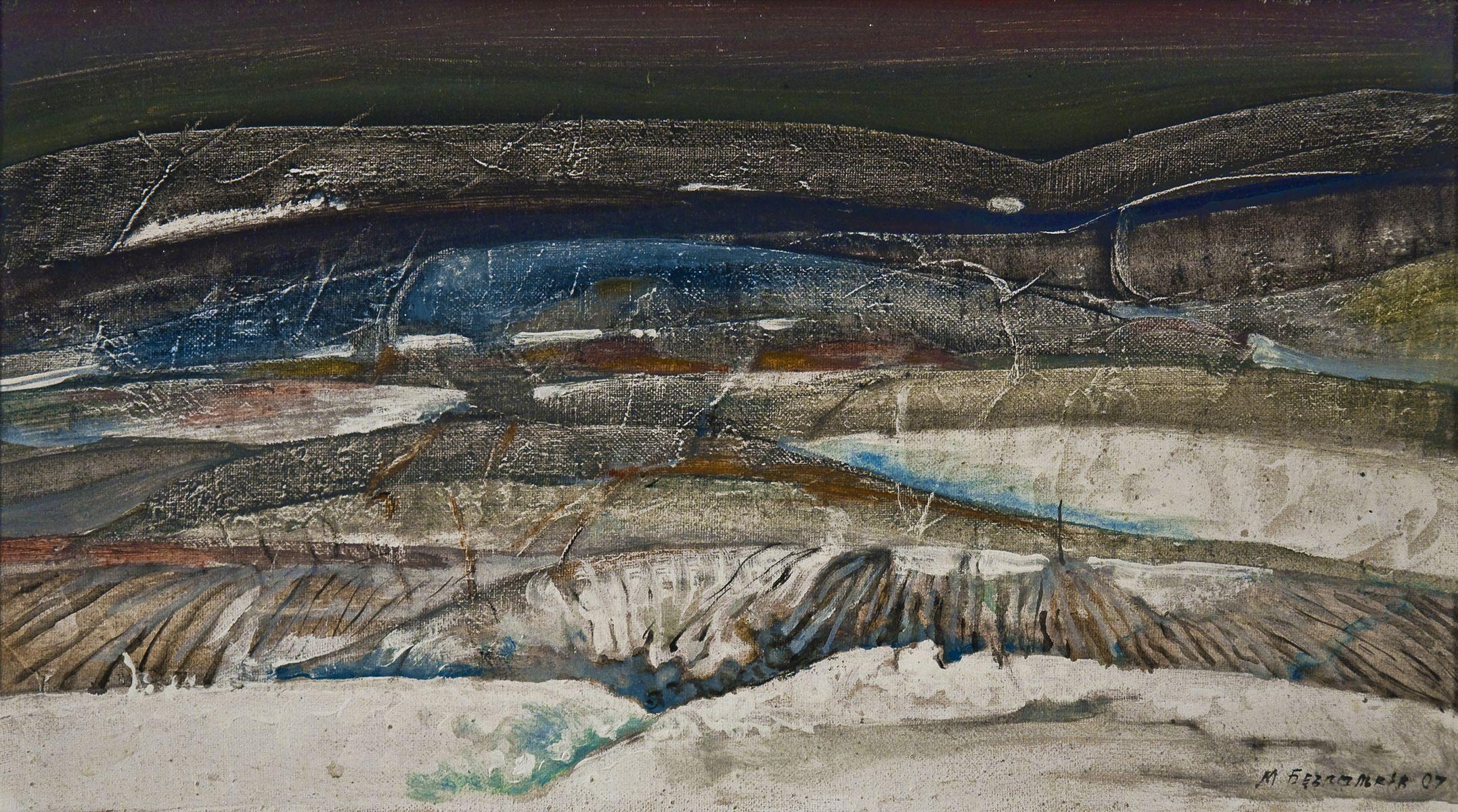 Михайло Безпальків. Зимові поля, 2007. Олія, полотно; 40х60