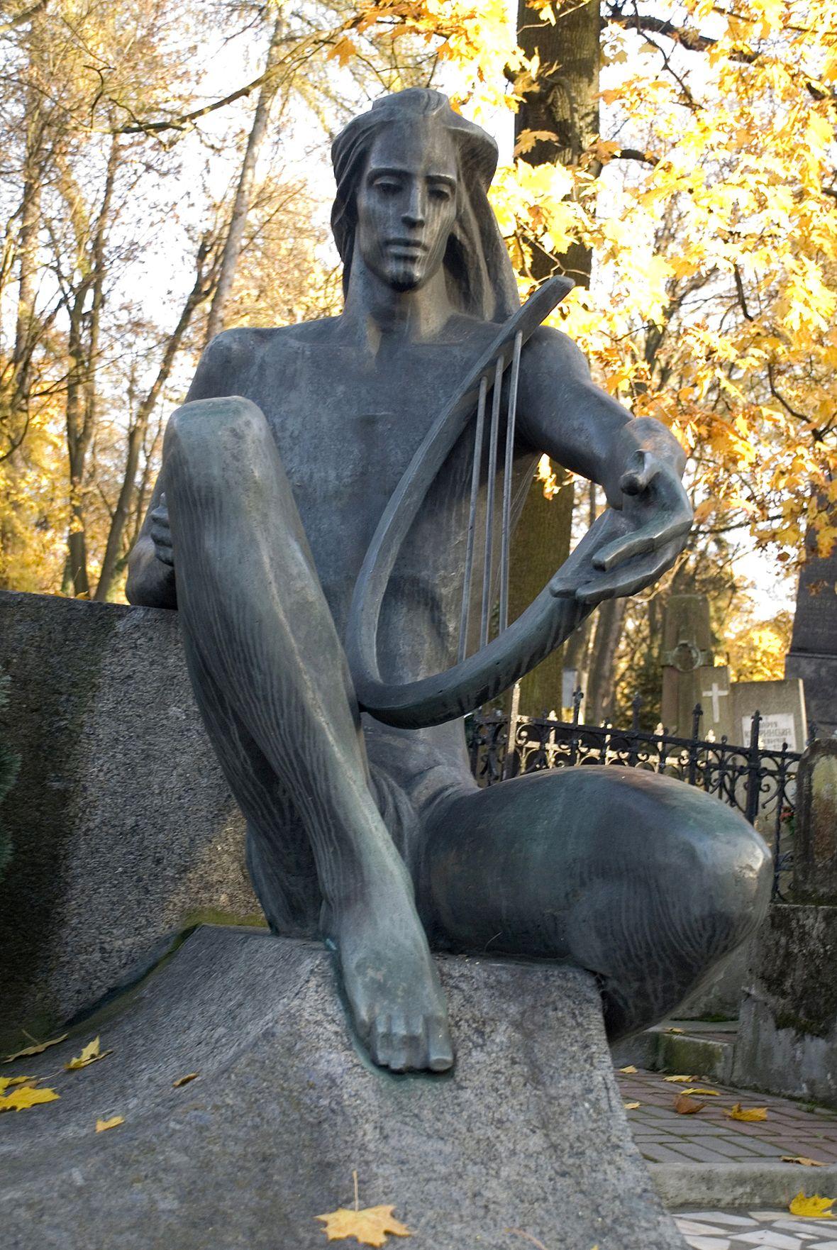 Теодозія Бриж. Орфей (пам'ятник Крушельницькій, Личаківській цвинтар), 1986