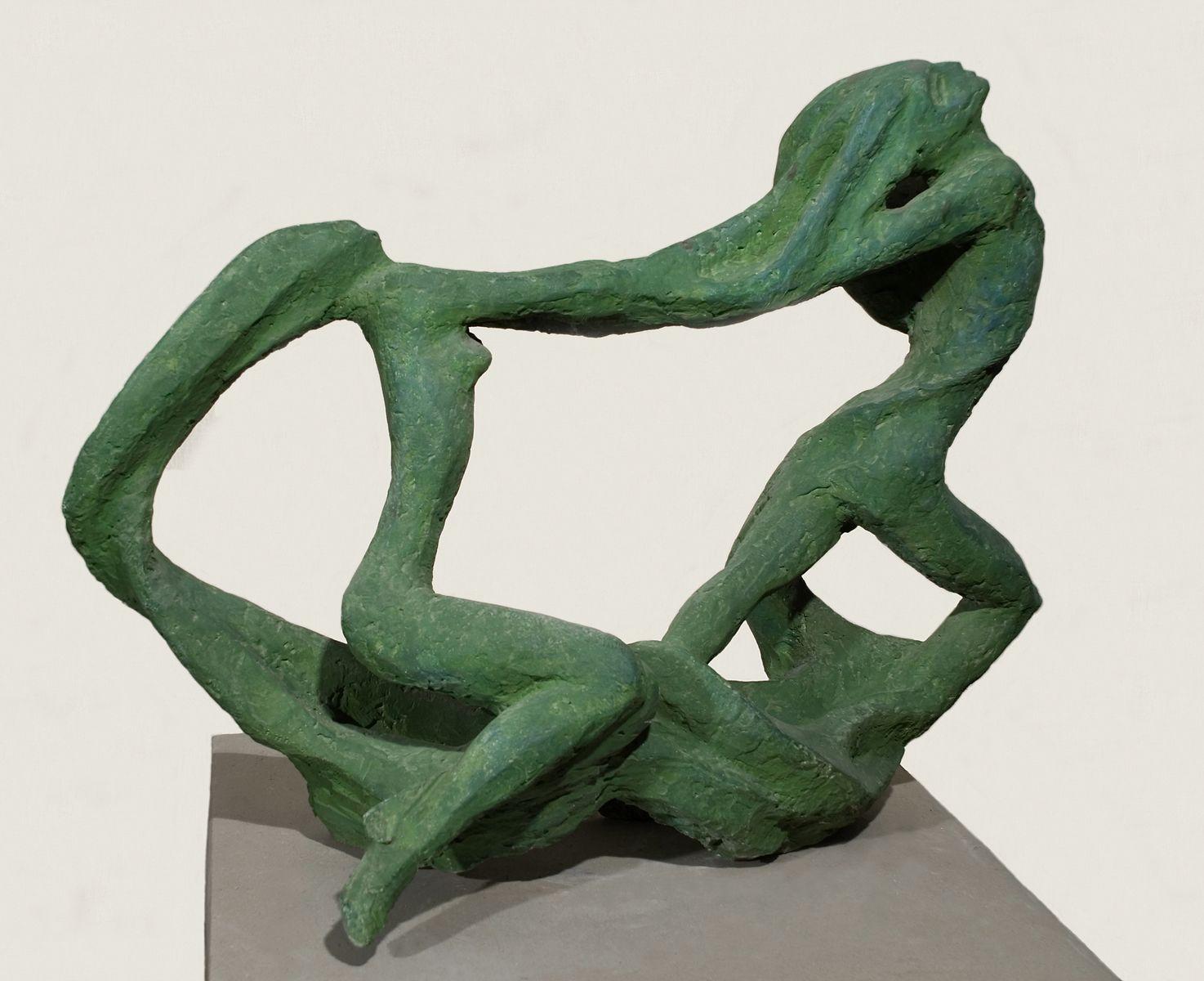 Теодозія Бриж. Той що греблю рве з русалкою, 1970, гіпс