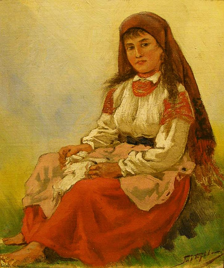 Тадеуш Рибковський. Юна гуцулка, 1880