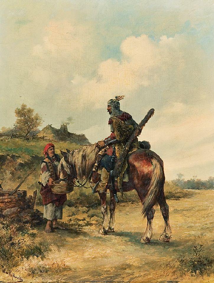 Тадеуш Рибковський. Напування коня