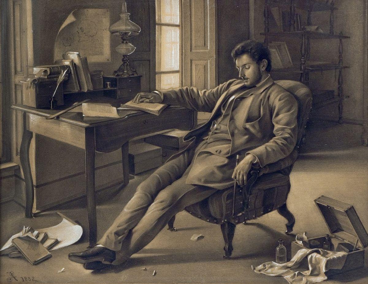 Антоні Стефанович. Чоловік, що спить, 1882