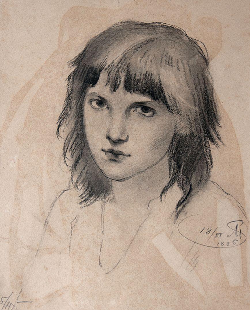 Антоні Стефанович. Голова хлопчика, 1886