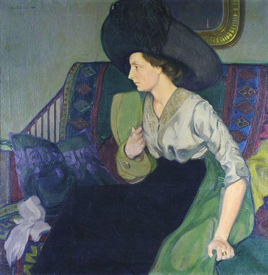 Каєтан Стефанович. Портрет дружини Сабіна, 1913