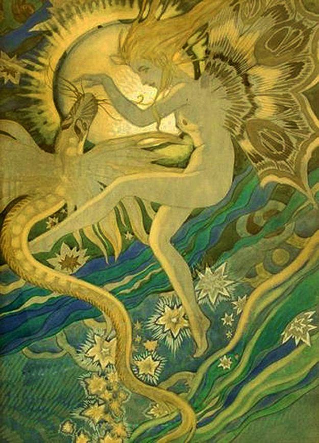 Каєтан Стефанович. Жінка і змія, 1915