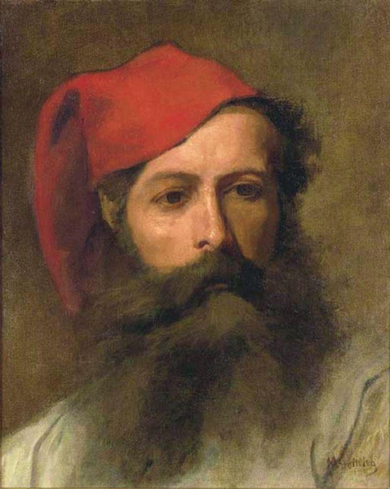 Маурицій Ґотліб. Портрет чоловіка в фесці