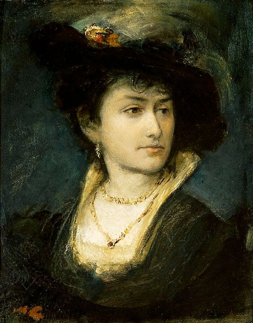 Маурицій Ґотліб. Портрет сестри Анни, 1877
