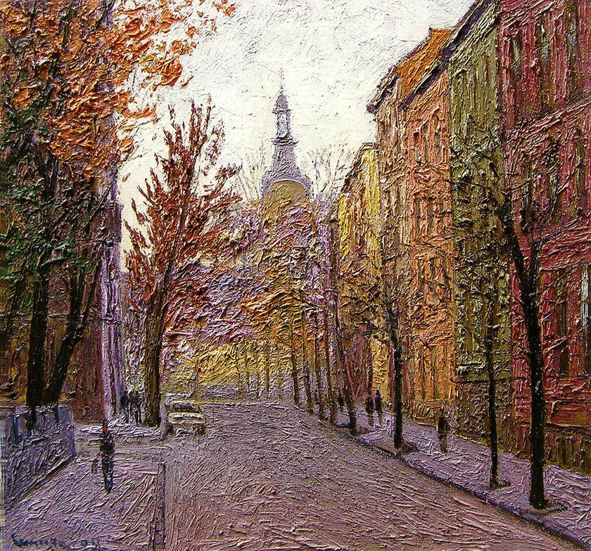 Петро Сипняк. Осіння вулиця, 2004