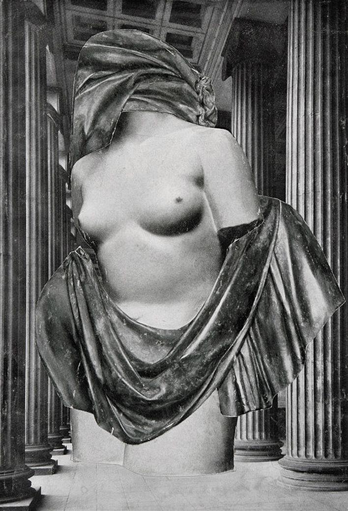 Олександр Кшивоблоцький. Каріатида, 1948-1949 фотоколаж