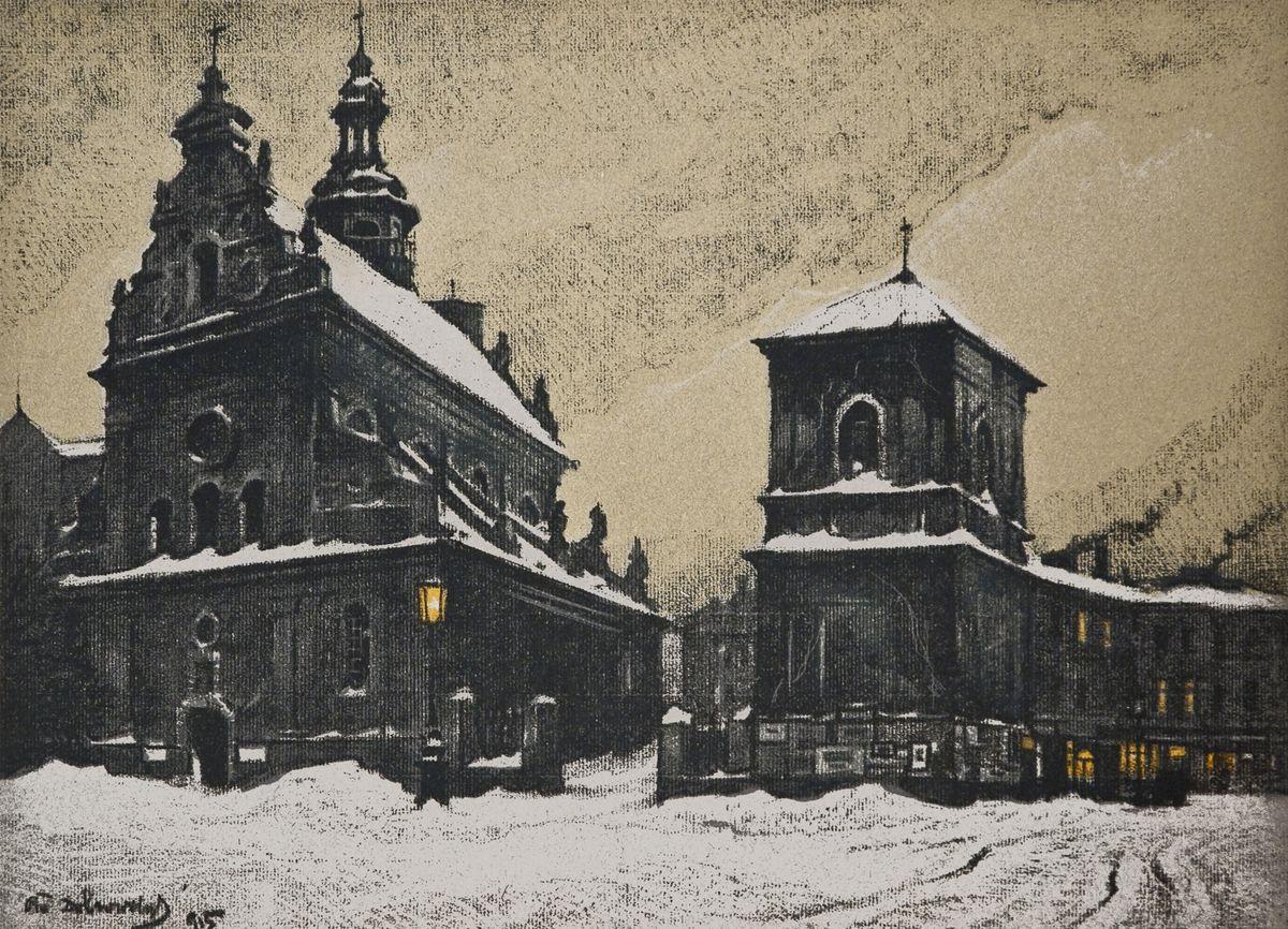 Одо Добровольський. Костел Бернардинців, 1915