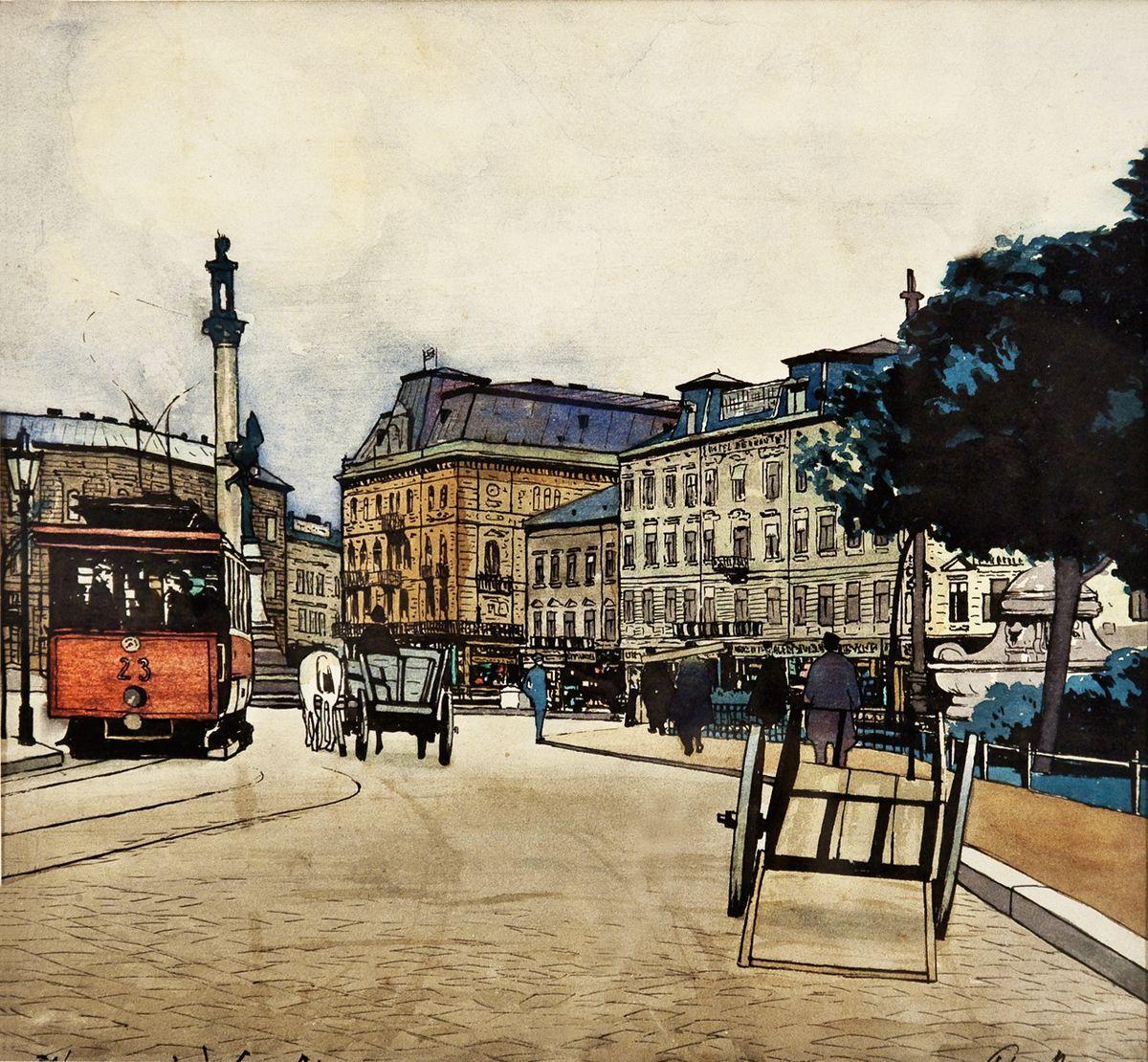 Одо Добровольський. Маріацька площа 1907