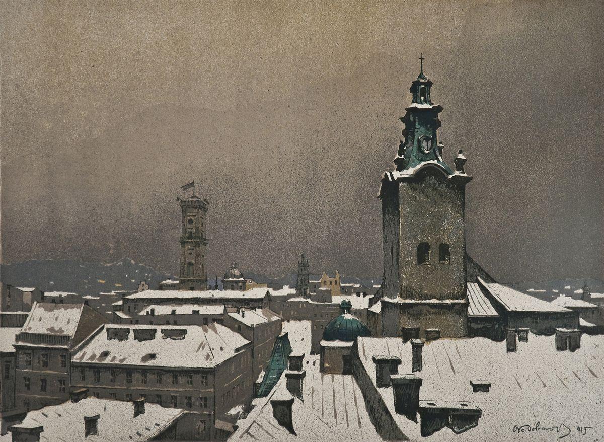 Одо Добровольський. Панорама Львова, 1915