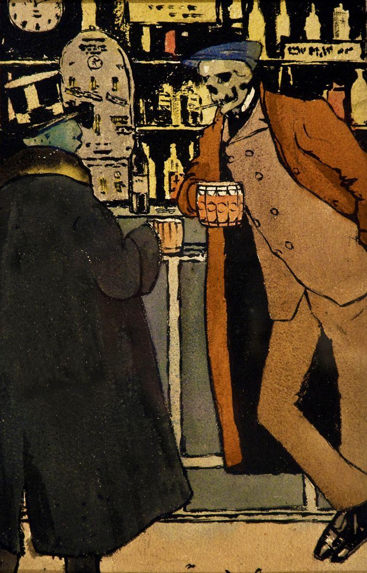 Одо Добровольський. В барі, 1908
