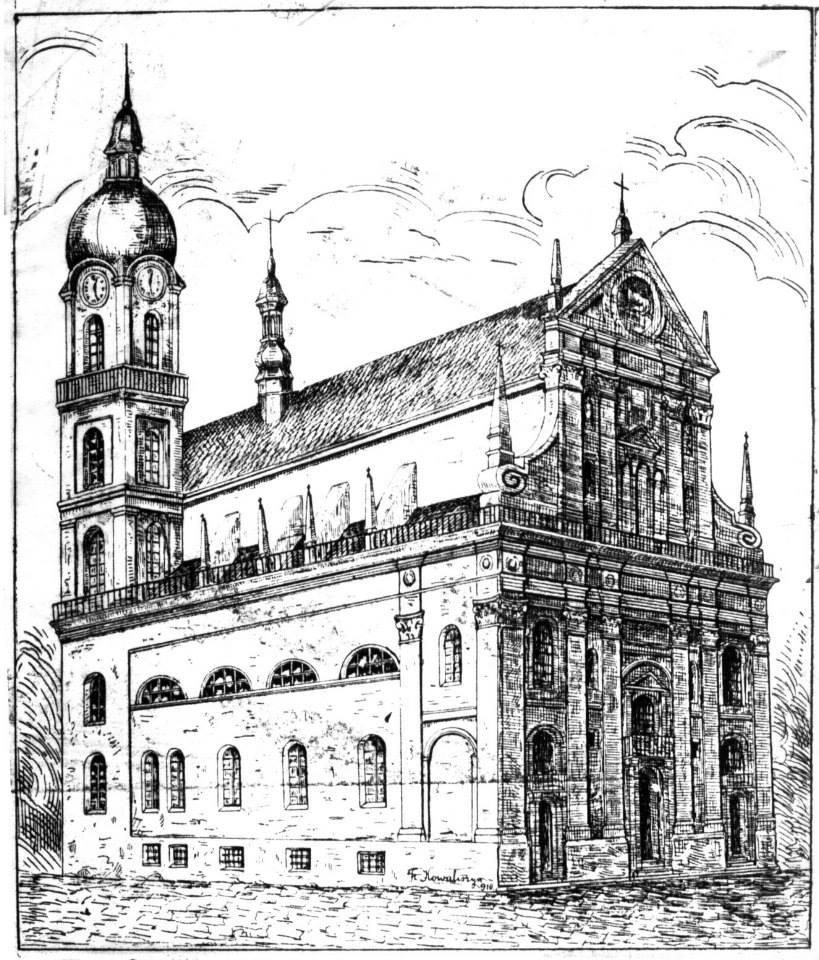 Францішек Ковалишин. Костел єзуїтів у Львові