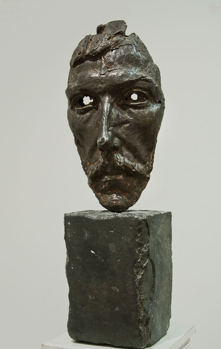 Олег Капустяк. Портрет на щодень, 1992. Сталь, базальт