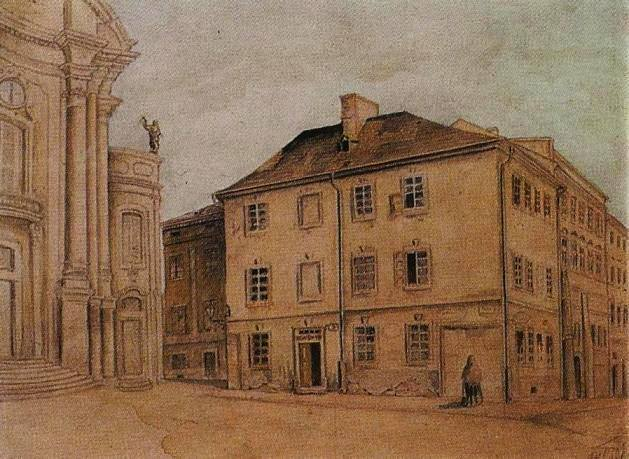 Францішек Ковалишин. Бувша будівля братської школи, 1902