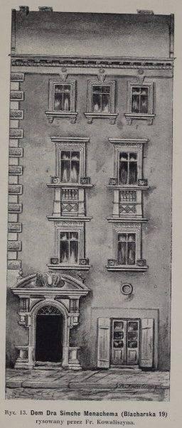 Францішек Ковалишин. Кам'яниця Докторівська на.вул.Blacharska 19 (нині Івана Федорова), 1909