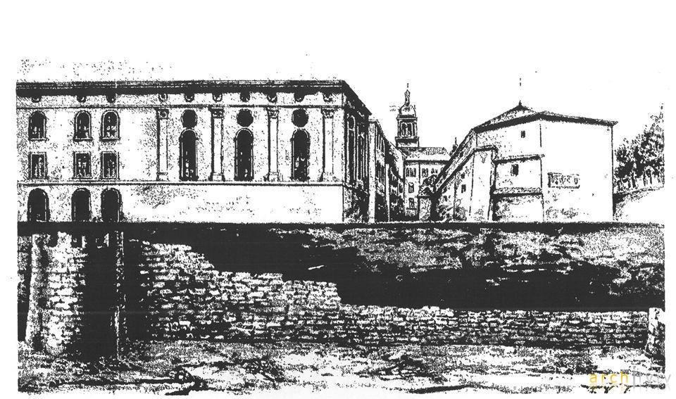 Францішек Ковалишин. Залишки зовнішнього оборонного муру часів Владислава Ягайла, 1910 (1912?)