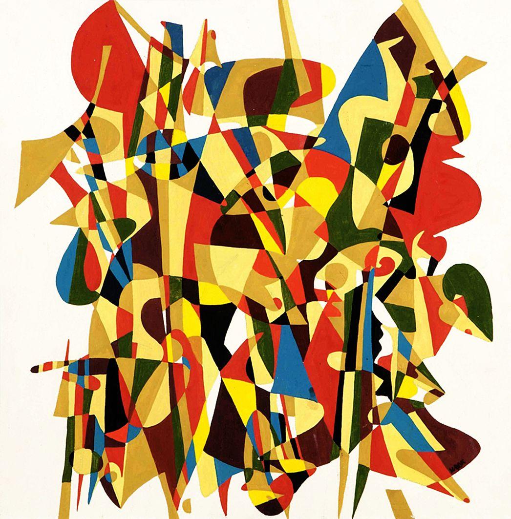 Іван Марчук. Абстрактна композиція, 1970-і