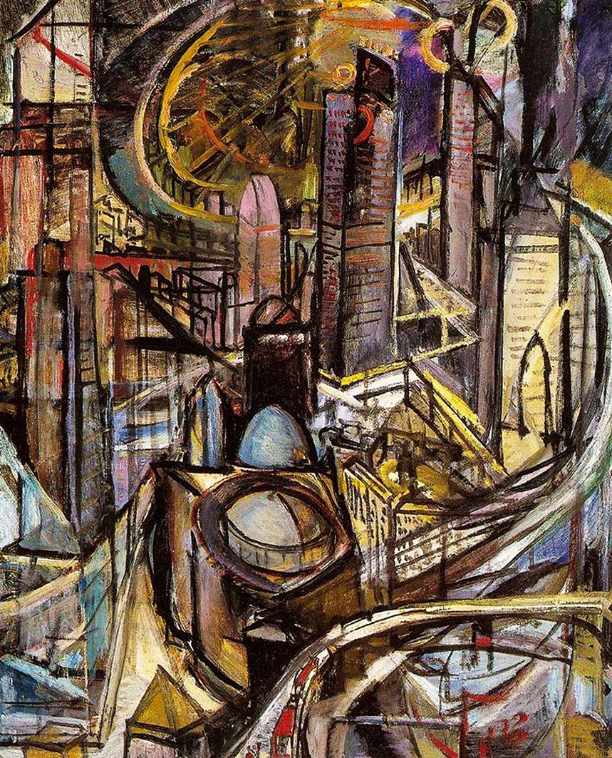 Леон Хвістек. Ділове місто, 1920