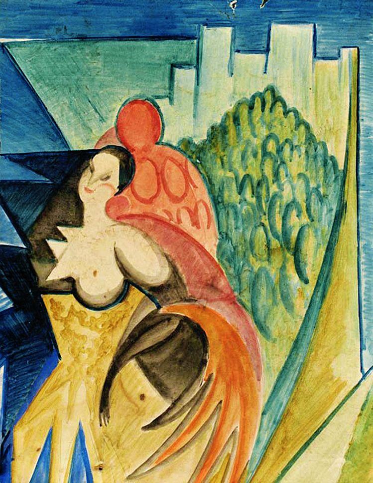 Леон Хвістек. Композиція з фигурою, 1930
