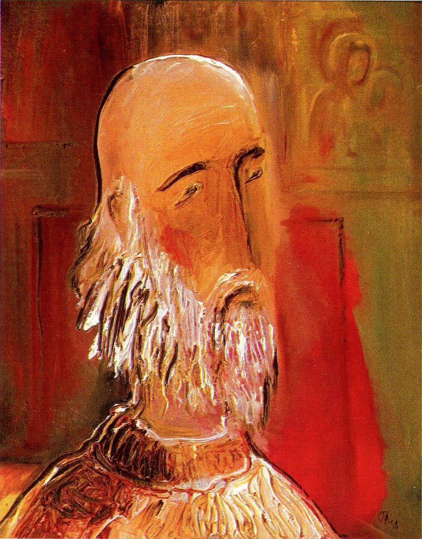Євген Манишин. Біля ікони, 1994