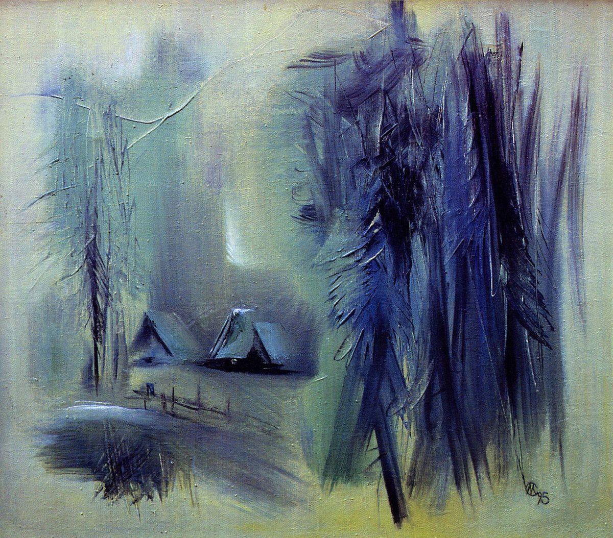 Євген Манишин. Карпатський пейзаж, 1995