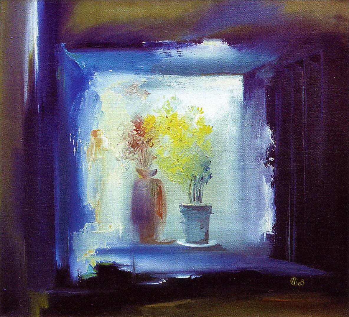 Євген Манишин. Натюрморт з квітами, 1998