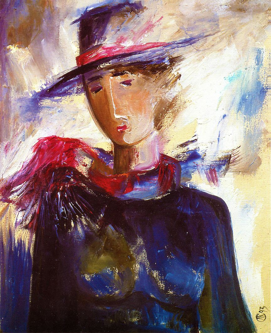 Євген Манишин. Портрет знайомої, 1993