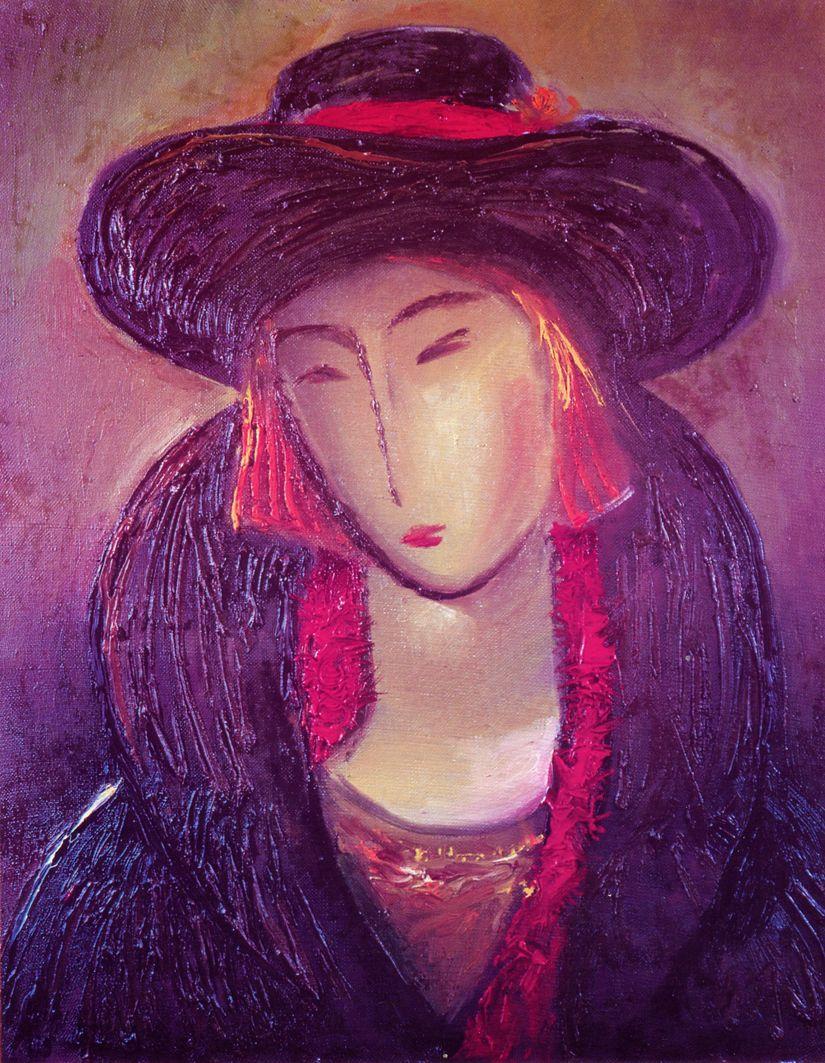 Євген Манишин. Жіночий портрет, 1996