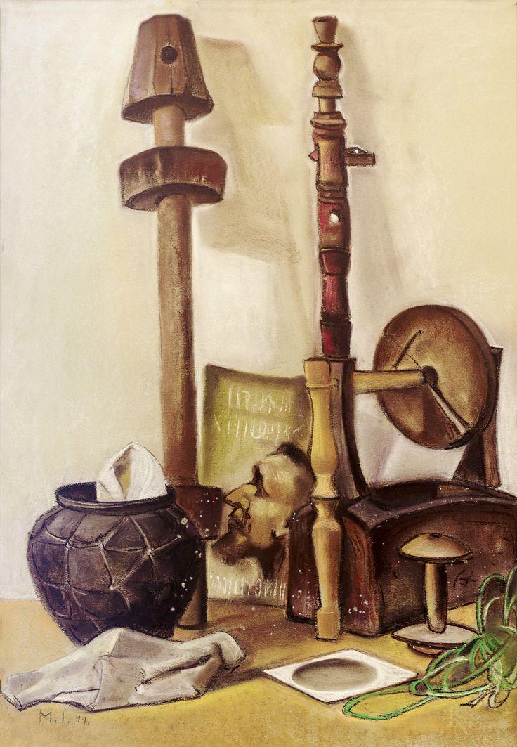 Ірина Мінько-Муращик. Ткацький натюрморт, 2011. Папір, пастель
