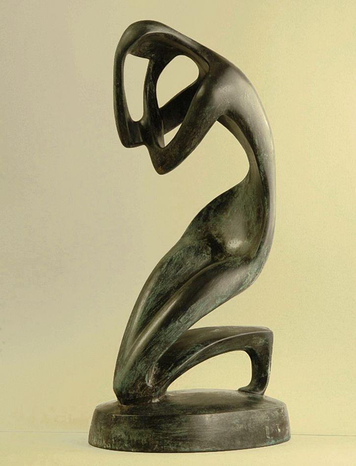 Володимир Одрехівський. Медитація, 2009, бронза, h-62