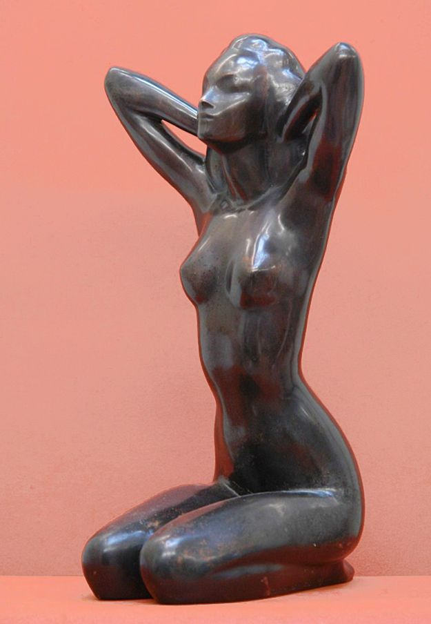 Володимир Одрехівський. Пробудження #3, 2001, бронза, 48x28x28