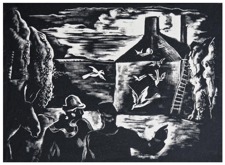 Людвік Тирович. Білі голуби, 1933, дереворит