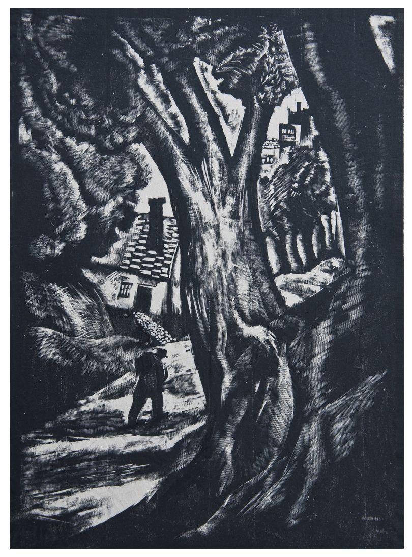 Людвік Тирович. Дорога до міста, 1931, дереворит