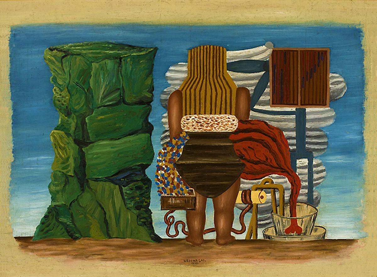 Генріх Штренг (Марк Влодарський). Чарівник біля зеленої скелі, 1930. Холст, масло, NMW