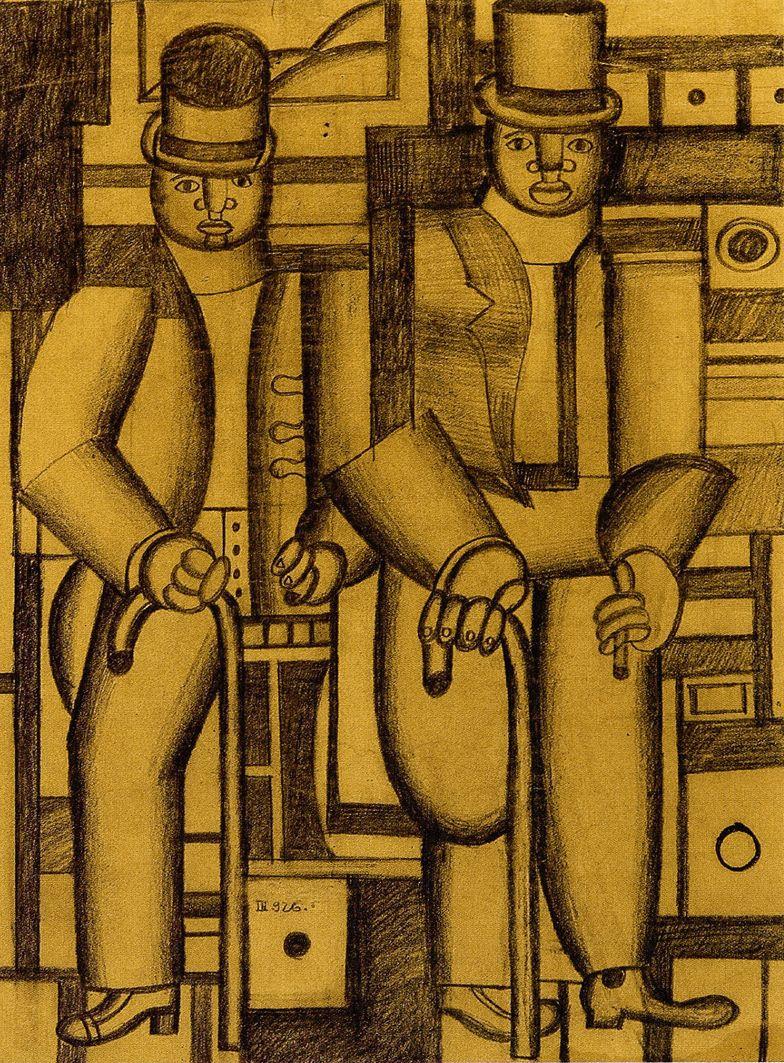 Генріх Штренг (Марк Влодарський). Два негри, 1926. Папір, олівець