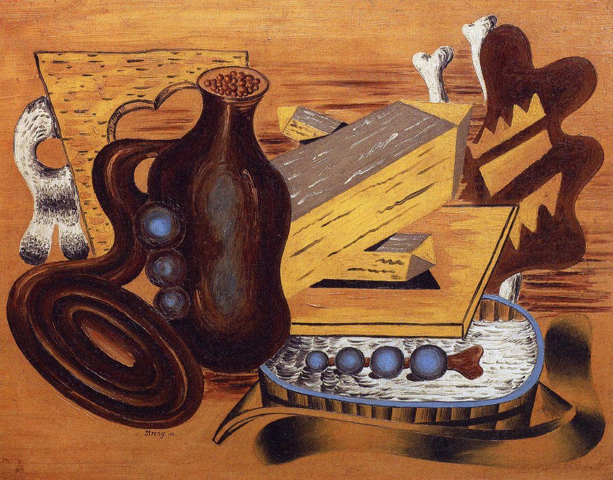 Генріх Штренг (Марк Влодарський). Натюрморт кришталь і балія, 1930