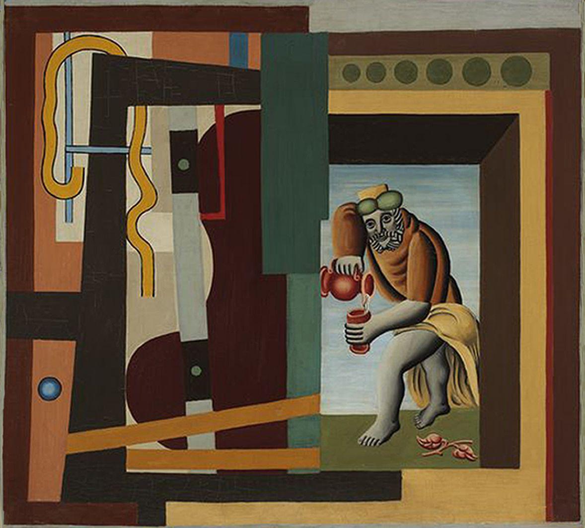 Генріх Штренг (Марк Влодарський). Наливає вино, 1927. Холст, масло, NMW