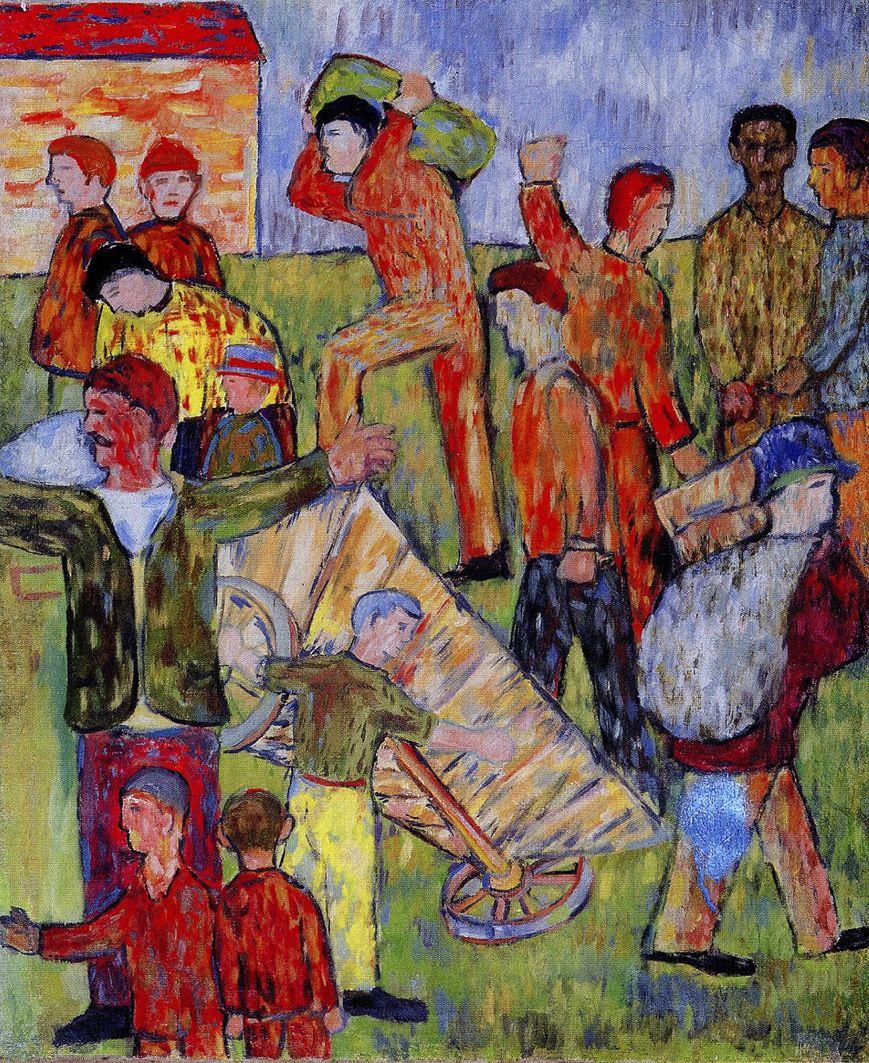 Генріх Штренг (Марк Влодарський). Перекинутий віз, 1937. Папір, олівець