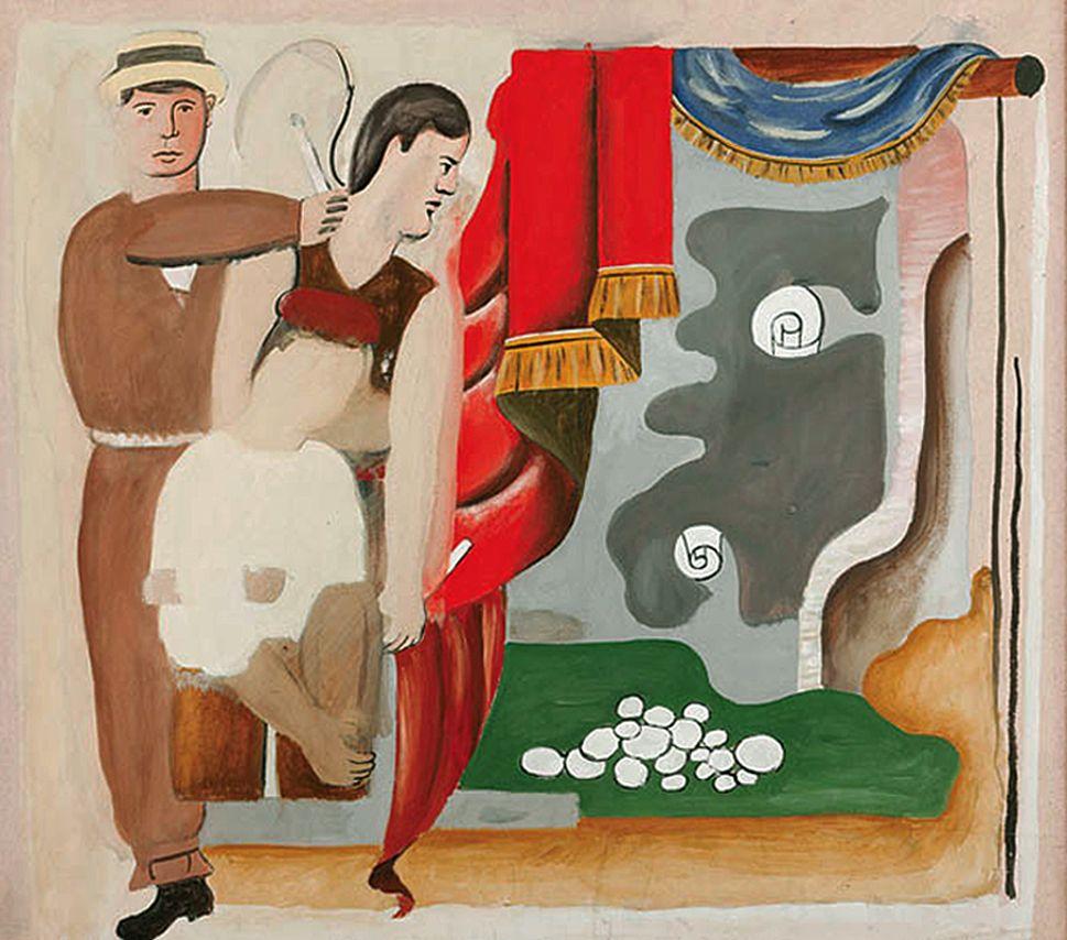 Генріх Штренг (Марк Влодарський). Танцівники, 1930-і. Папір,гуаш