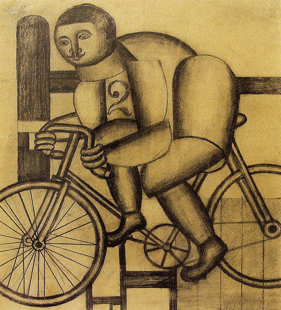 Генріх Штренг (Марк Влодарський). Велосипедист, 1925. Папір, олівець