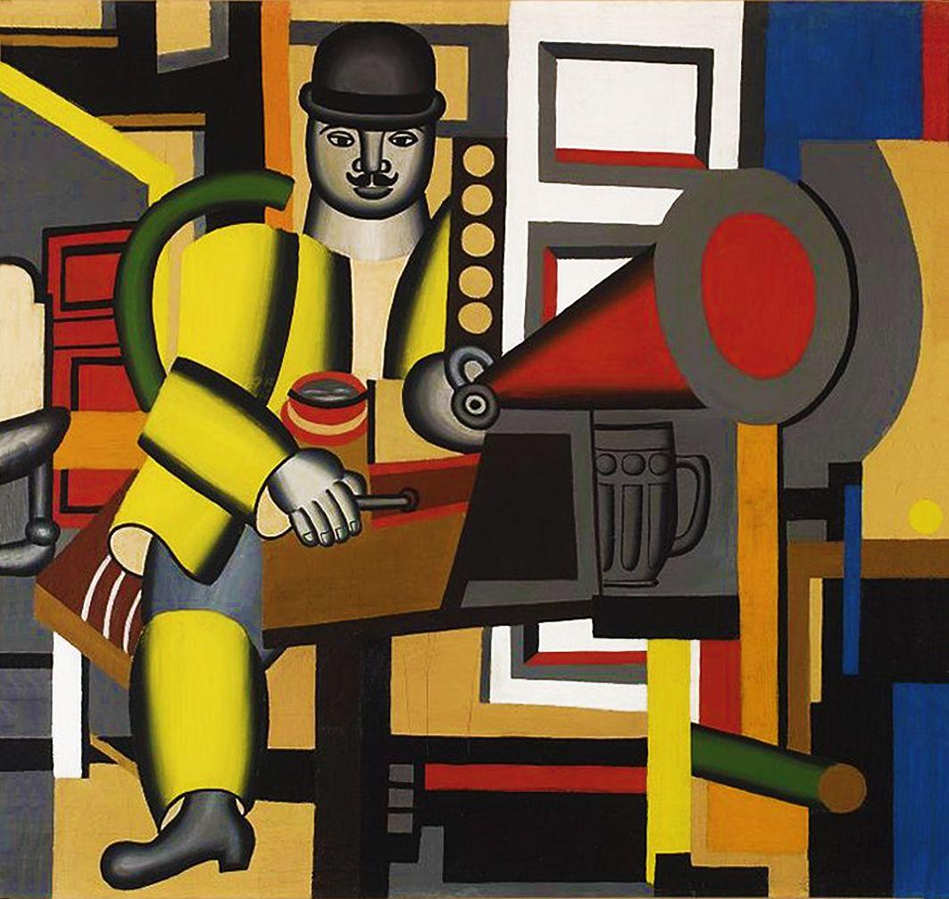 Генріх Штренг (Марк Влодарський). Людина з грамофоном, 1926. Холст, масло, NMW