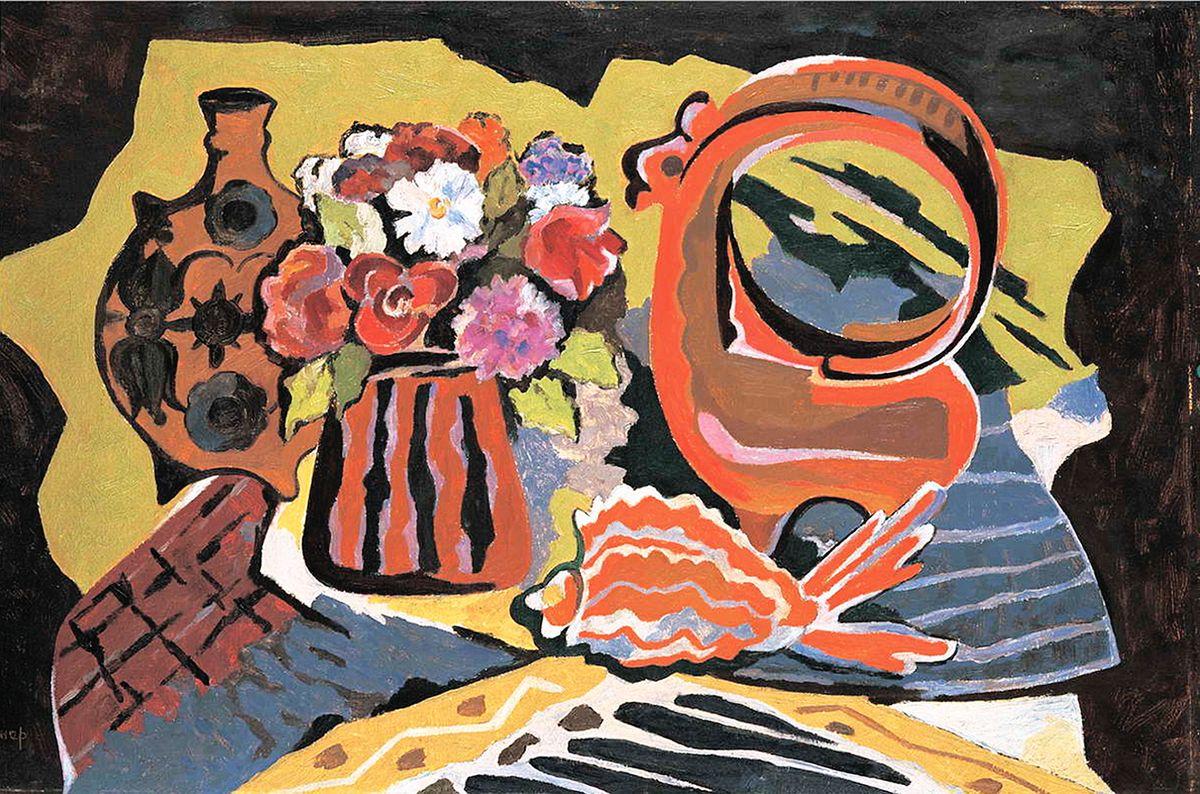 Михайло Ліщинер. Натюрморт з червоною рибою, 1981