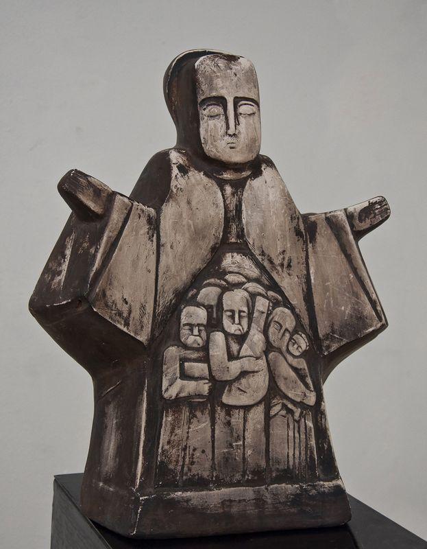 Ярослав Мотика. Покрова 2002 кам'яна  маса 45-40-20